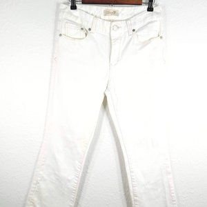 ★Seven 7 Jeans White Sz8 Gentle Boot Premium Denim